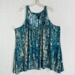LANE BRYANT Pattern Print Shimmer Top